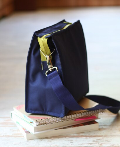 U Konserve Insulated Lunch Tote - Navy Perspective: left