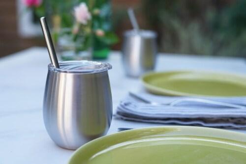 U Konserve® Stainless Steel Mini Straws Perspective: left
