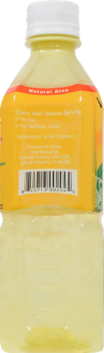 Viloe Mango Flavored Aloe Vera Juice Drink Perspective: left