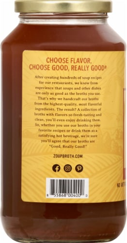 Zoup Good Really Good Chicken Bone Broth Perspective: left