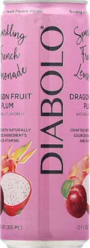 Diabolo Dragonfruit Plum Sparkling French Lemonade Perspective: left