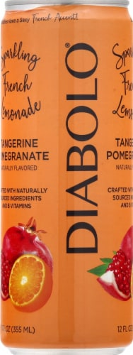Diabolo Tangerine Pomegranate Sparkling French Lemonade Perspective: left