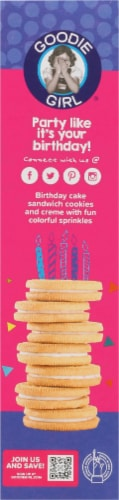 Goodie Girl Cookies Birthday Cake Cookies Perspective: left