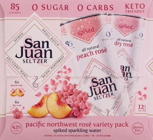 San Juan Seltzer Pacific Northwest Rose Spiked Sparkling Water Perspective: left