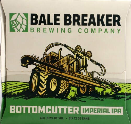 Bale Breaker Brewing Co. Bottomcutter Imperial IPA Beer Perspective: left