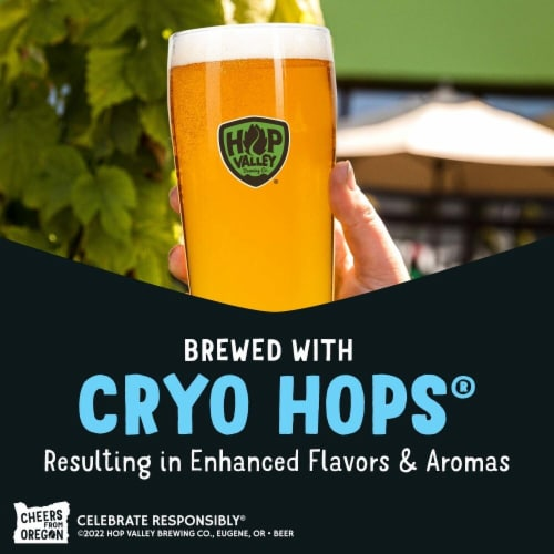 Hop Valley Brewing Co. Cryo Stash Imperial India Pale Ale Perspective: left