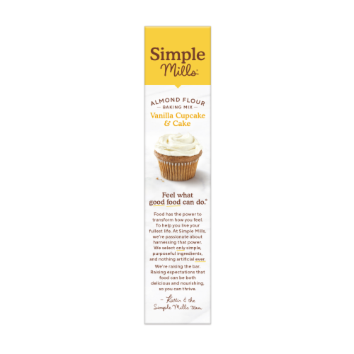 Simple Mills Vanilla Cupcake & Cake Almond Flour Mix Perspective: left