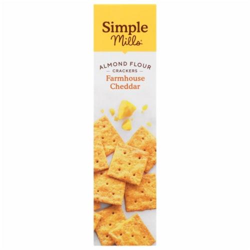 Simple Mills Farmhouse Cheddar Almond Flour Crackers Perspective: left