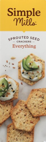Simple Mills® Everything Sprouted Seed Crackers Perspective: left