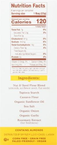Simple Mills Gluten Free Fine Ground Sea Salt Almond Flour Crackers 6 Count Perspective: left