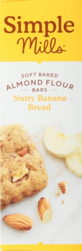 Simple Mills Soft Baked Nutty Banana Bread Almond Flour Bars Perspective: left