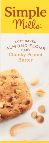 Simple Mills® Chunky Peanut Butter Almond Flour Bars Perspective: left