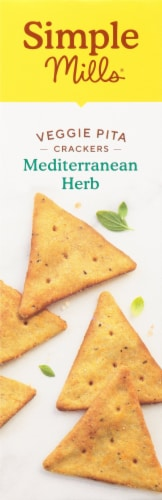 Simple Mills Mediterranean Herb Veggie Pita Crackers Perspective: left