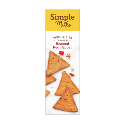 Simple Mills Roasted Red Pepper Veggie Pita Crackers Perspective: left