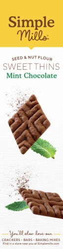 Simple Mills® Chocolate Mint Sweet Thins Perspective: left
