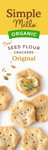 Simple Mills Organic Seed Crackers - Original Perspective: left