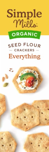 Simple Mills Organic Seed Flour Crackers - Everything Perspective: left