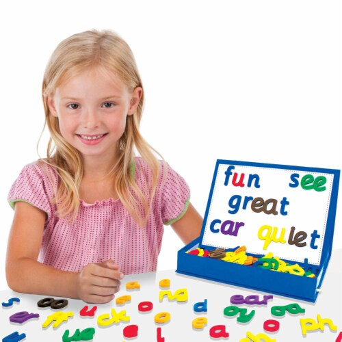 Junior Learning® Rainbow Phonics Magnetic Letters Perspective: left