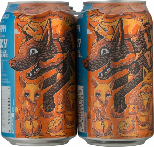 Bootstrap Brewing Lush Puppy Juicy IPA Beer Perspective: left