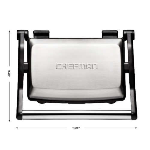 Chefman Grill and Panini Press - Black/Silver Perspective: left