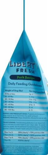 Buckley Pet Pork Recipe Liberty Fresh Dry Dog Food Perspective: left