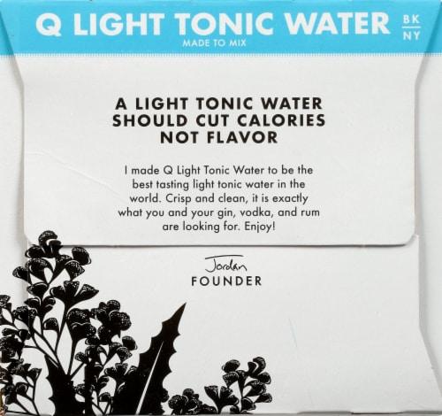 Q Mixers Light Tonic Water Perspective: left