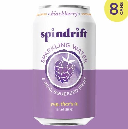 Spindrift Blackberry Sparkling Water Perspective: left
