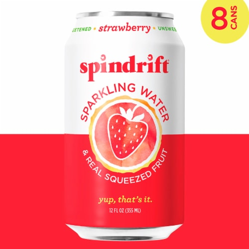 Spindrift Strawberry Sparkling Water Perspective: left