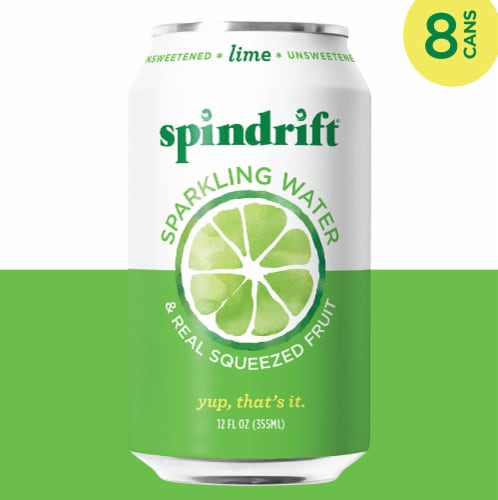 Spindrift Lime Unsweetened Sparkling Water Perspective: left