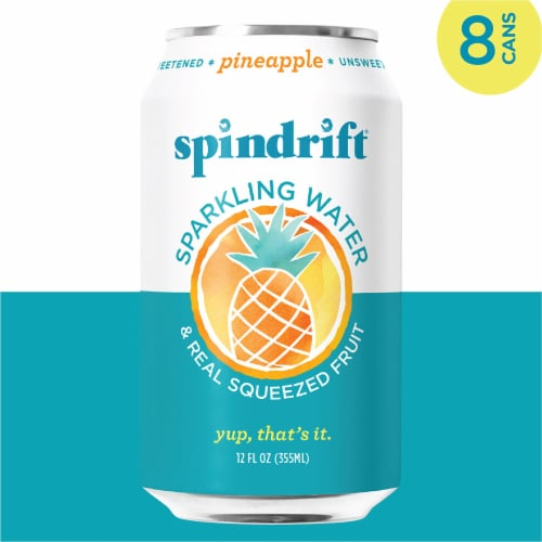 Spindrift Pineapple Sparkling Water Perspective: left