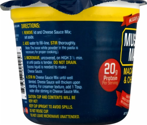 Muscle Mac Pro Original Cheddar Mac & Cheese Single Serve Cup Perspective: left