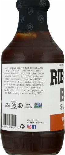 Rib Rack Southern Bourbon BBQ Sauce Perspective: left