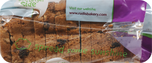 Rudi's Gluten Free Cinnamon Raisin Bread Perspective: left