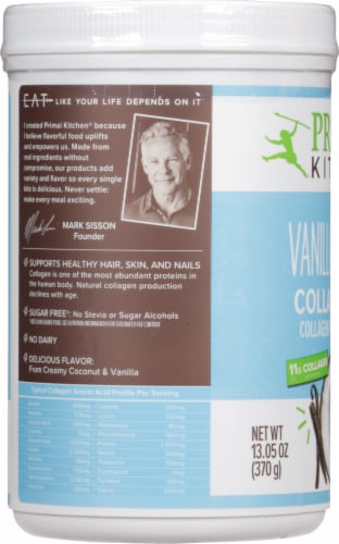 Primal Kitchen Collagen Fuel Vanilla Coconut Collagen Peptide Drink Mix Perspective: left