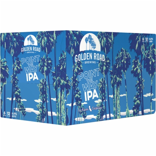 Golden Road Brewing Point the Way IPA Perspective: left