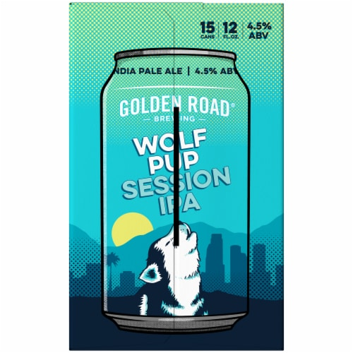 Golden Road Brewing Wolf Pup Session IPA Perspective: left