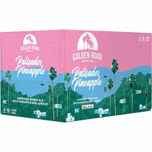 Golden Road Palisades Pineapple American Wheat Ale Perspective: left