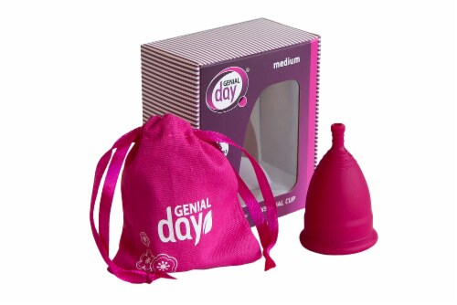 Genial Day Feminine Menstrual Cup Medium Perspective: left