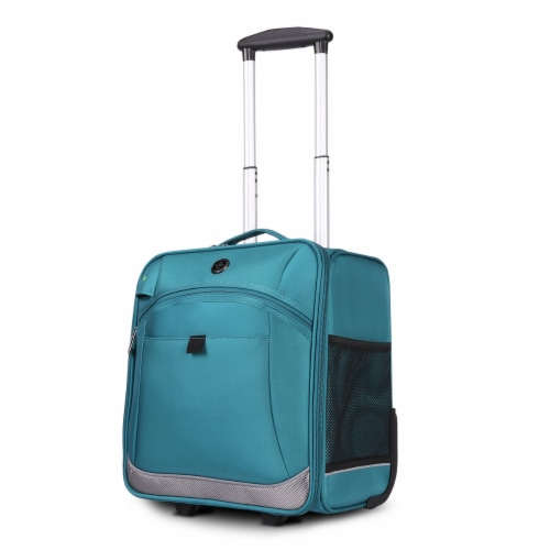Swissdigital Basel Luggage - Teal Perspective: left