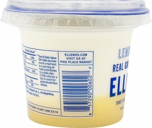 Ellenos Lemon Curd Real Greek Yogurt Perspective: left