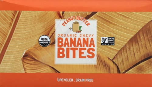 Barnana Organic Gluten Free Chewy Peanut Butter Banana Bites 12 Count Perspective: left