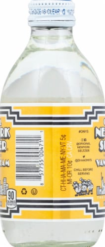 Original New York Seltzer Vanilla Cream Soda Perspective: left