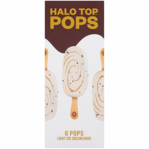 Halo Top Pops Chocolate Chip Cookie Dough Ice Cream Pops 6 Count Perspective: left