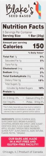 Blake's Seed Based Raspberry Snack Bars Perspective: left