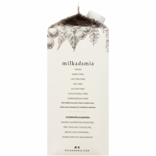Milkadamia Unsweetened Vanilla Macademia Milk Perspective: left