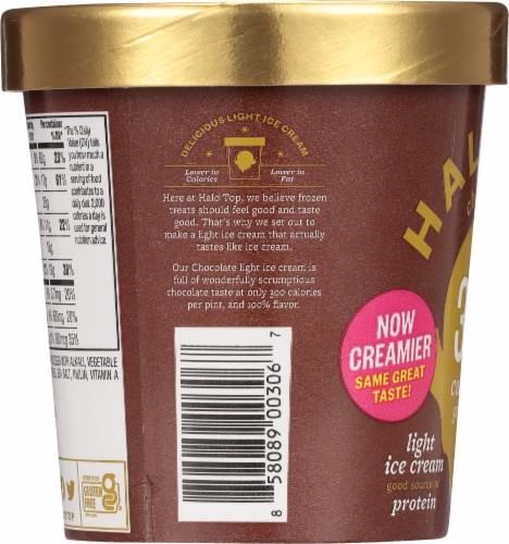 Halo Top Chocolate Light Ice Cream Perspective: left