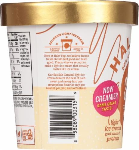 Halo Top Sea Salt Caramel Light Ice Cream Perspective: left