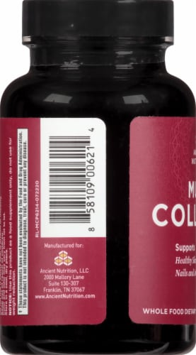 Ancient Nutrition Multi Collagen Protein Capsules Perspective: left