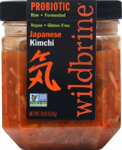 Wildbrine Probiotic Japanese Kimchi Perspective: left