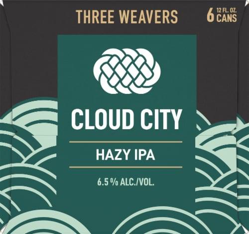 Three Weavers Brewing Cloud City Hazy IPA Perspective: left